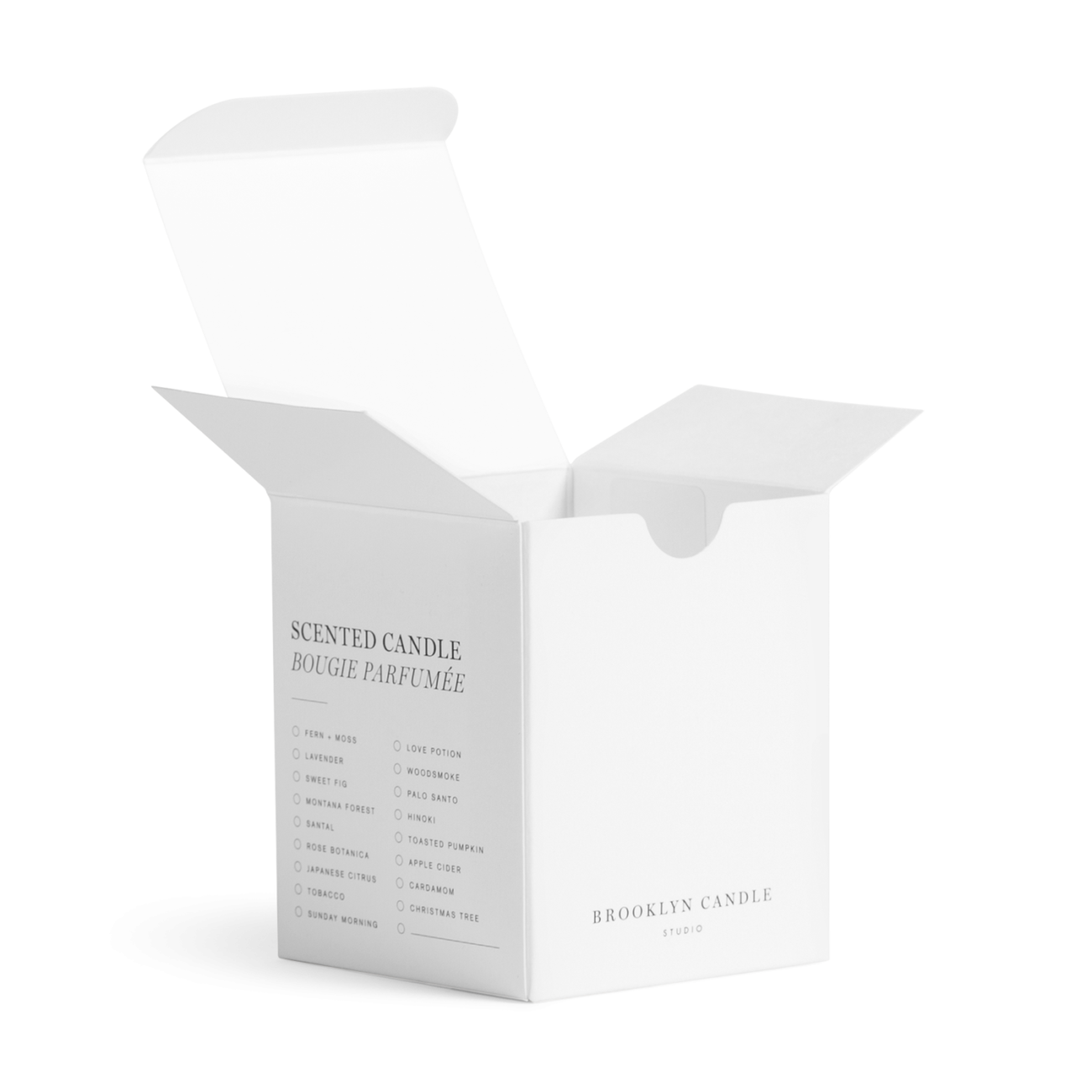 Custom tuck top autobottom folding carton box with thumb notch. Lithography on solid bleached sulphate.