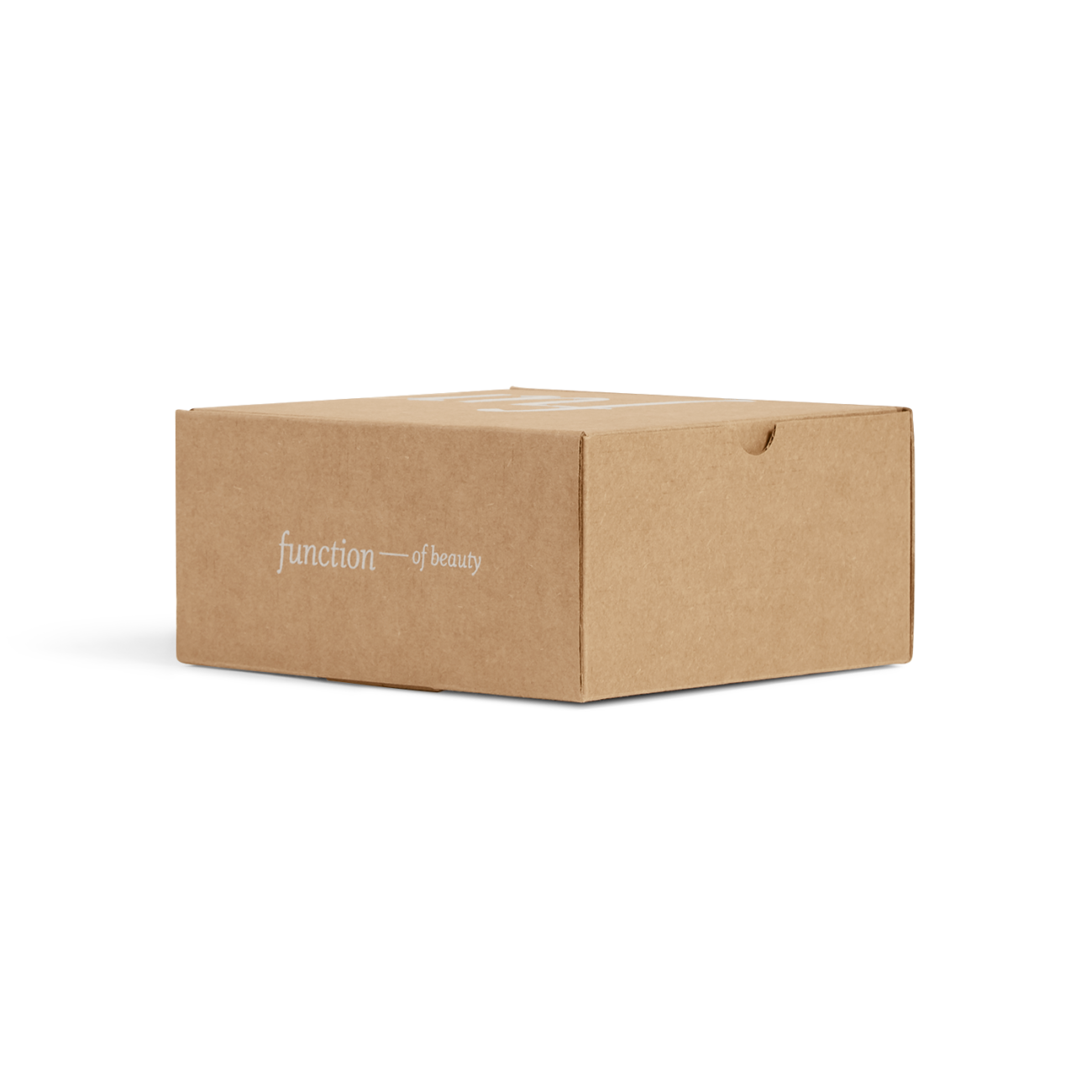 Custom roll end tuck top corrugated mailer box with roll end base, tuck top lid, thumb notch. Flexography on natural kraft liner.