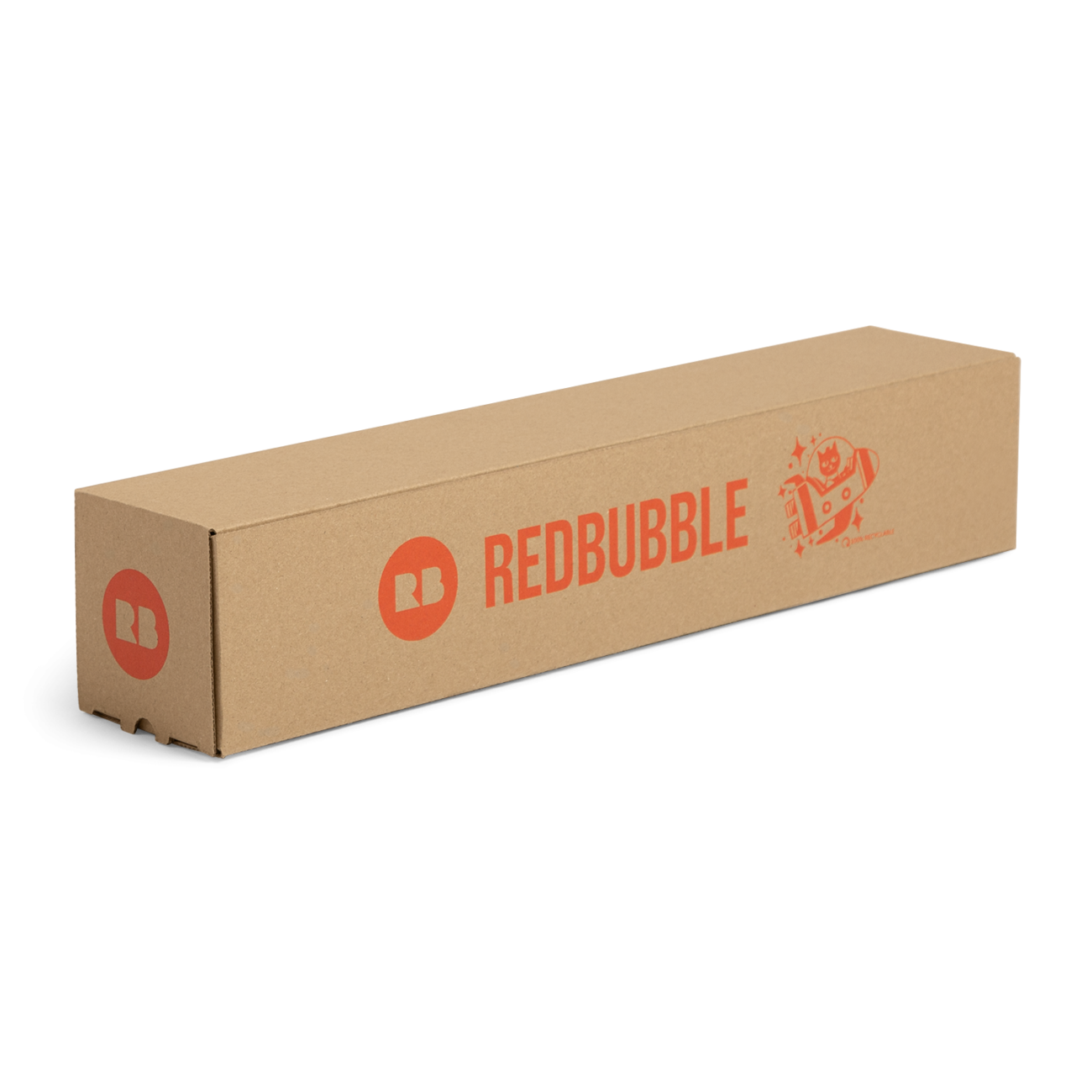 Custom straight tuck end corrugated mailer box with catalog lock. Flexography on natural kraft liner.