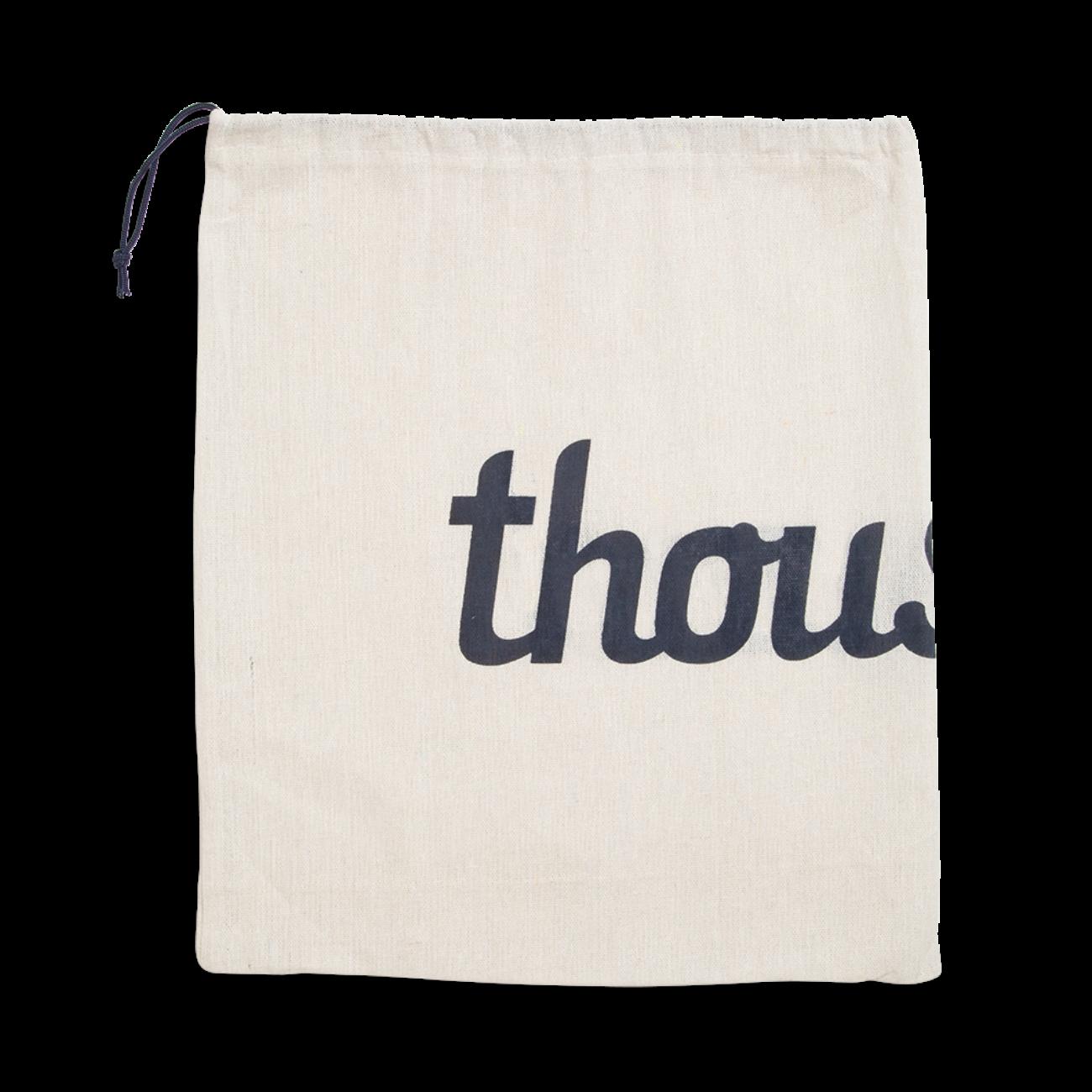 Custom fabric drawstring bag Screen Printing on cotton.