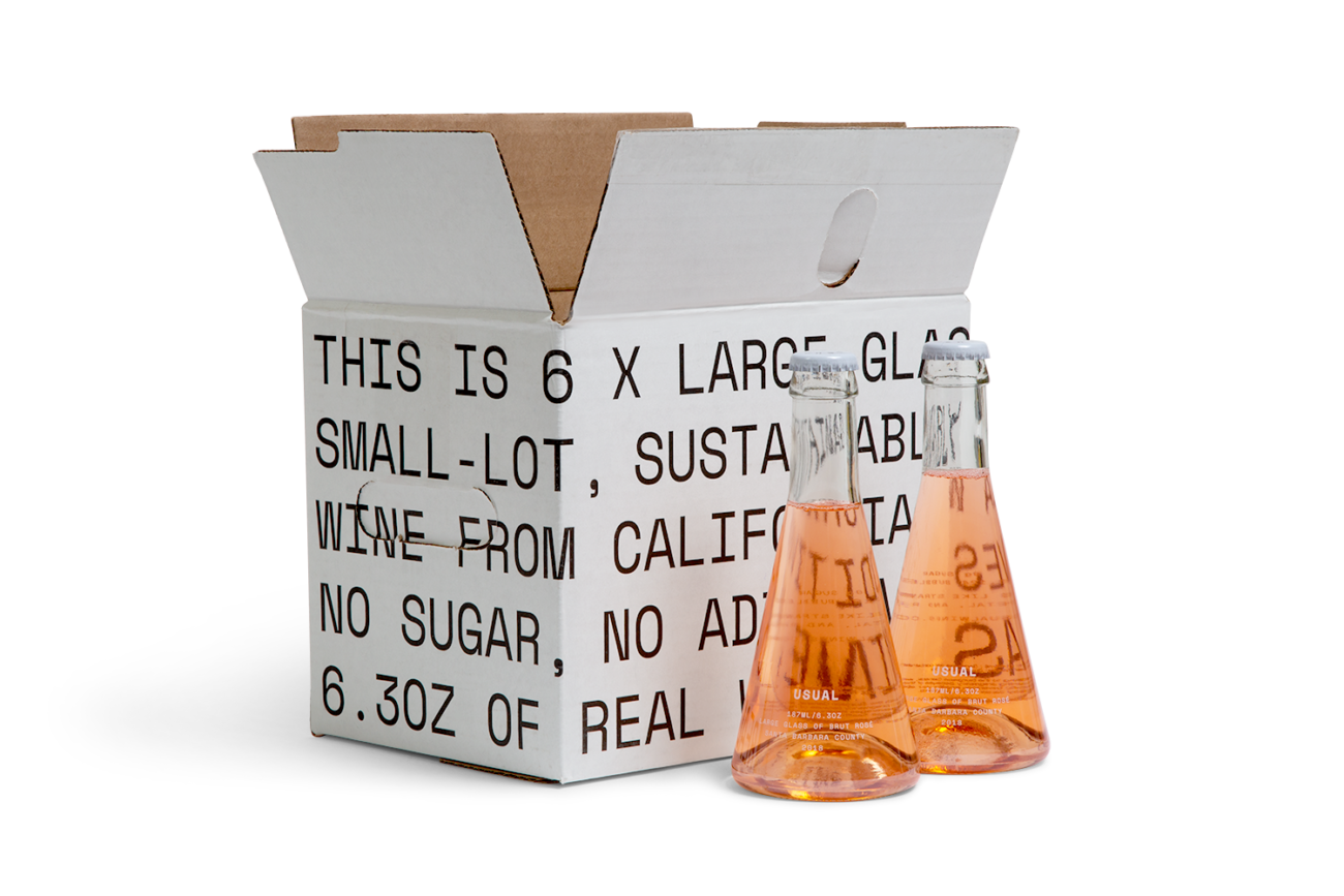 Custom regular slotted container slotted corrugated box with rsc top, rsc bottom, hand holes. Flexography on natural kraft liner, mottled white liner.