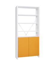 Lundia classic kirjahylly valkoinen oranssi2