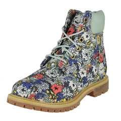 Timberland 6 In Premium Canvas Boot Ankle Hi Boot