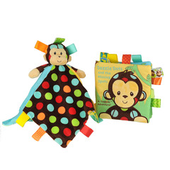Taggies Dazzle Dots Monkey & Book Toys