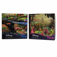 Ceaco Sleeping Beauty & Alice In Wdn 750 Pc. Jigsaw Puzzle