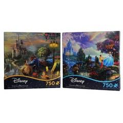 Ceaco Beauty & The Beast& Cinderella 750 Pc. Jigsaw Puzzle