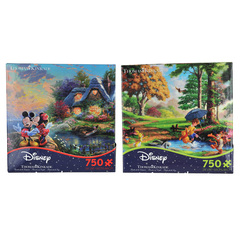 Ceaco Mickey Minnie &winnie The Pooh 750 Pc. Jigsaw Puzzle