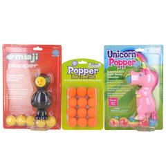 Hog Wild Emoji/Unicorn Pink/Orange Ref Popper And Refill
