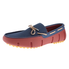 Swims Braided Lace Nubuck Lux Loafer Driver Shoes