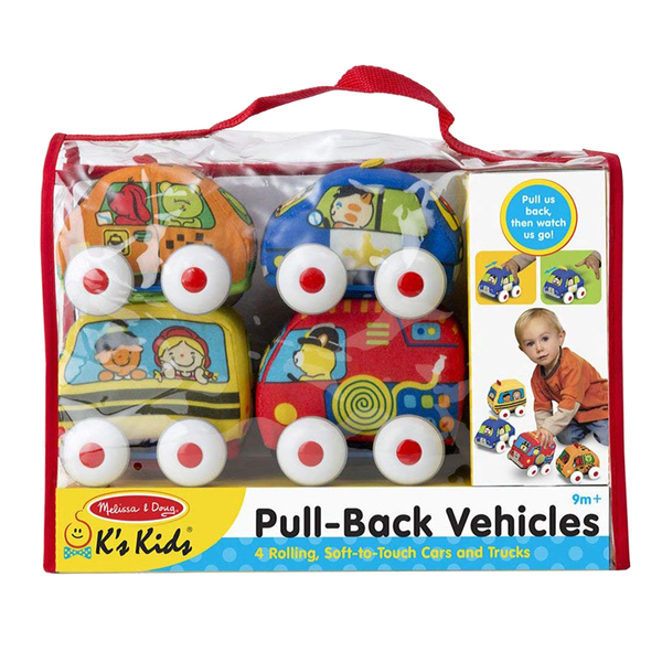Melissa And Doug PULL-BACK TOWN VEHICLES PUSH AND PUP TOYS