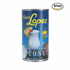 Coco Lopez Cream Of Coconut 6P 15 OZ