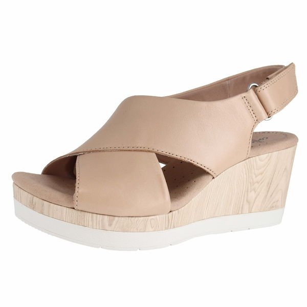 Clarks Cammy Pearl Wedge Sandals