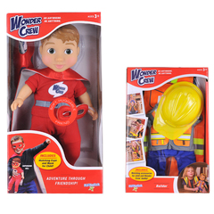 Playmonster Wonder Crew Will/Pack Builder Doll And Clothing