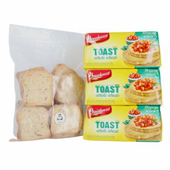 Bauducco Toast Whole Wheat 5.64 Oz 3 Pk