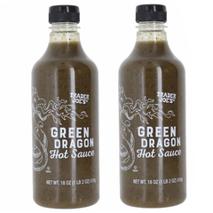 Trader Joes Green Dragon Hot Sauce 2 Pk