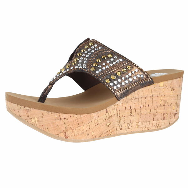 Yellow Box Francia Wedge Sandals