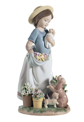 Lladro A Romp In The Garden Girl Figu