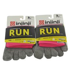 Injinji Run Org Weight Mini-Crew 2-Pk Vibram Toesock