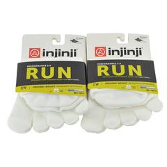 Injinji Run Org Weight No-Show 2-Pack Vibram Toesock