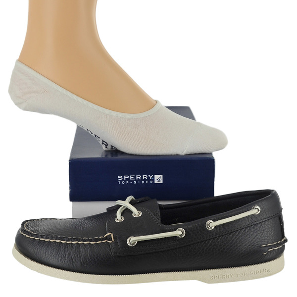 Sperry A/O 2-Eye And No-Show Sock Boat Shoes