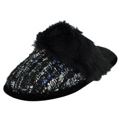 Dearfoams Sequin Tweed Scuff Slippers