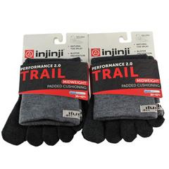 Injinji Trail 2.0 Mw Mini-Crew 2-Pack Vibram Toesock