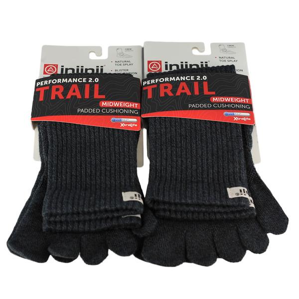 Injinji Trail 2.0 Midweight 2-Pack Crew Sock