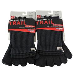 Injinji Trail Midweight Crew 2-Pack Crew Sock
