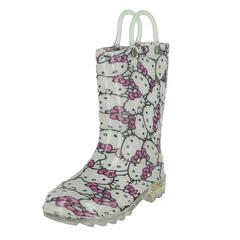 Western Chief Hello Kitty Glitter Lighted Rain Boots