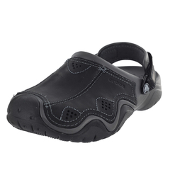 Crocs Swiftwater Leather Clog Sport Sandals