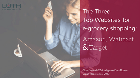 The top three websites for grocery shopping are: Amazon, Walmart and Target