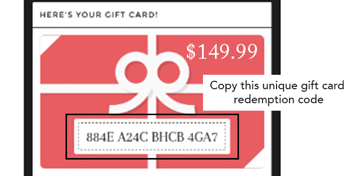 Step 1. gift card email