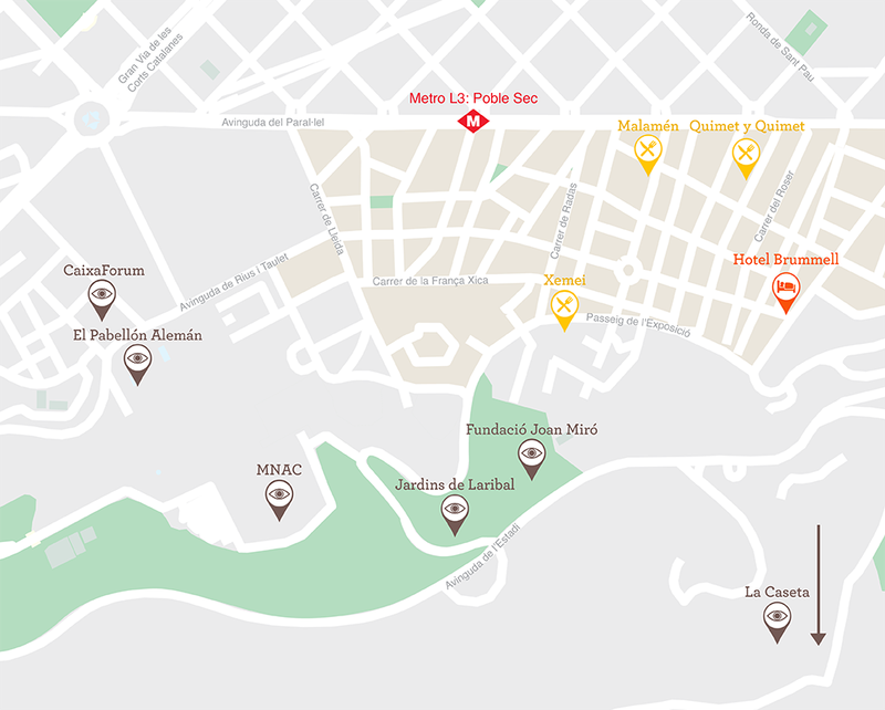 Poble Sec map