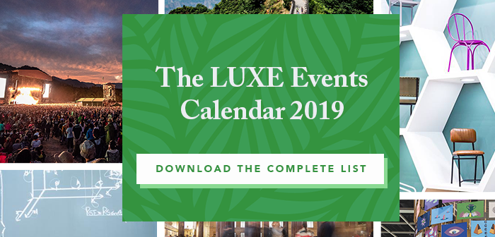 Download the LUXE Events Calendar 2019