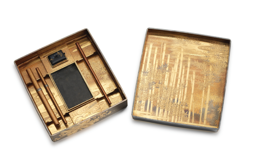 A Set of Bundai (Writing Table) and Suzuribako (Writing Box), Japan, late Edo period - 3