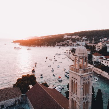 Hvar harbour view