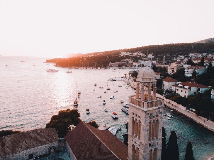 Hvar harbour view