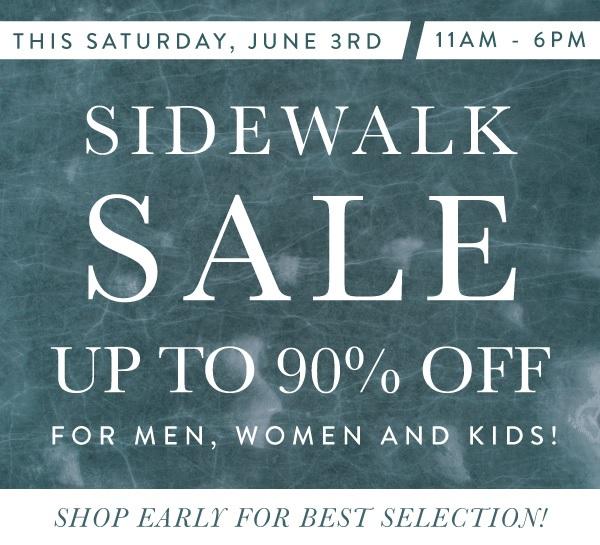 The Denim Lounge Summer Sidewalk Sale