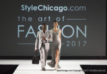 Borris Powell and Model StyleChicago.com's The Art of Fashion (Runway Show)