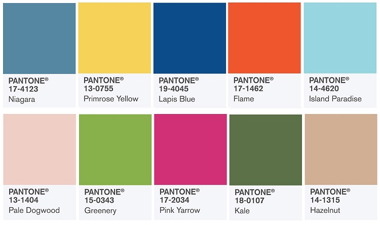 images courtesy of pantone fashion color trend report spring 2017