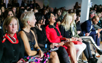 Candid crowd reactions at StyleChicago.com's The Art of Fashion Runway Show