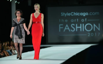 Eweline B & Model StyleChicago.com's The Art of Fashion Runway Show in Shots from the Crowd