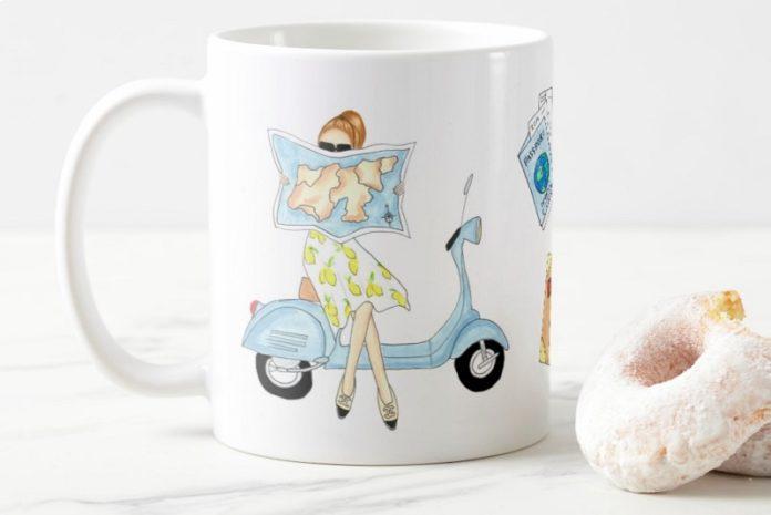Bellezza Creative - Fashion Illustrations by Amanda Florian on Coffee Mug