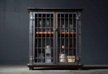 Bolt & Hide - Liquor Cabinet Bar Cart, Industrial Cage