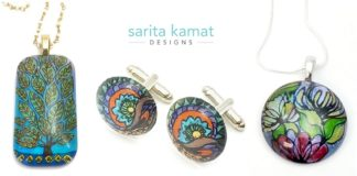 Sarita Kamat Designs - Painted Jewelry inspired by Nature