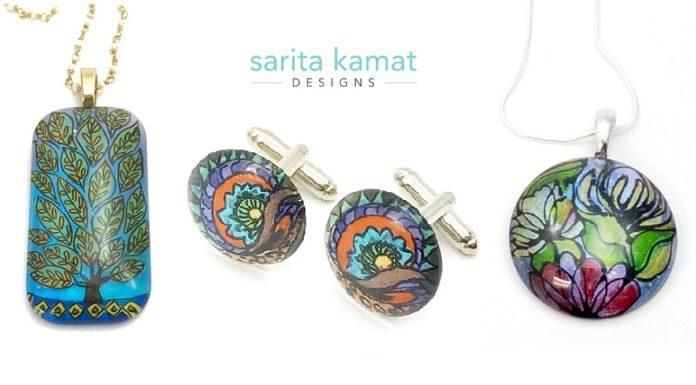 Sarita Kamat Designs - Painted Jewelry inspired by Nature