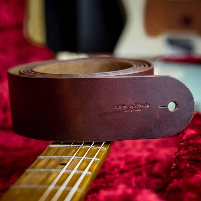 McMurray And Blonde Leather Guitar Strap