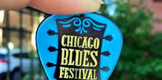 Big League Pins - Chicago Blues Festival pin