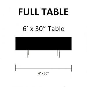 "Full Table - 6' x 30"" Table"