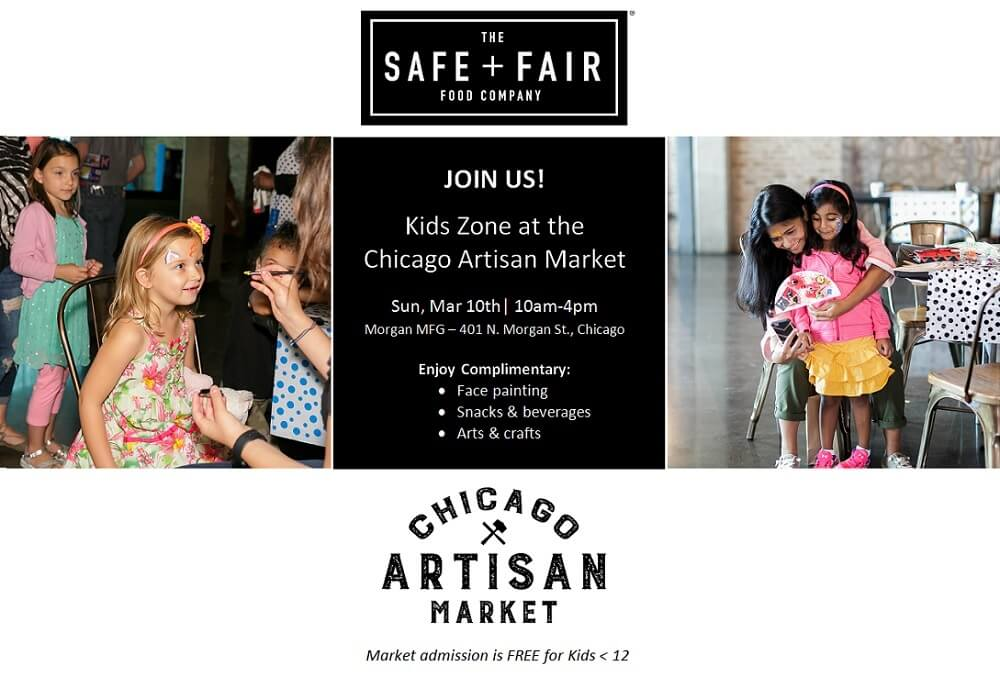 Kids Zone at Chicago Artisan Market - presented by The Safe + Fair Food Company